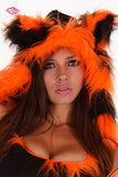 Furry Tiger Rave Outfit Hood