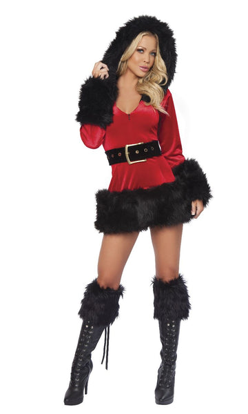 Bad Santa in Black with Black Boot Toppers