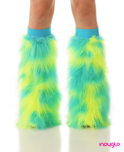 Meissa Fluffies Turquoise and Flo Yellow