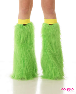 Lime Green Fluffy Legwarmer