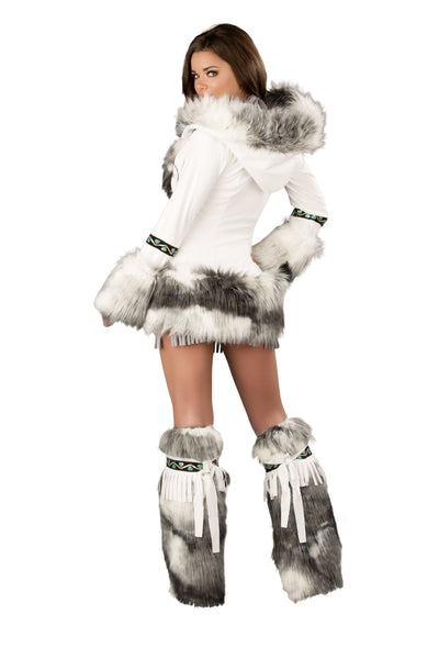 White Eskimo Hooded Coat that you can add!