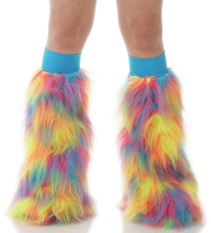 Tropical Sherbert Fluffies Turquoise Kneebands