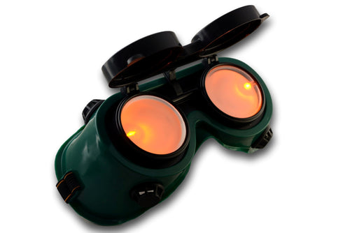 Steampunk Goggles - Green Frame, Non-See Through