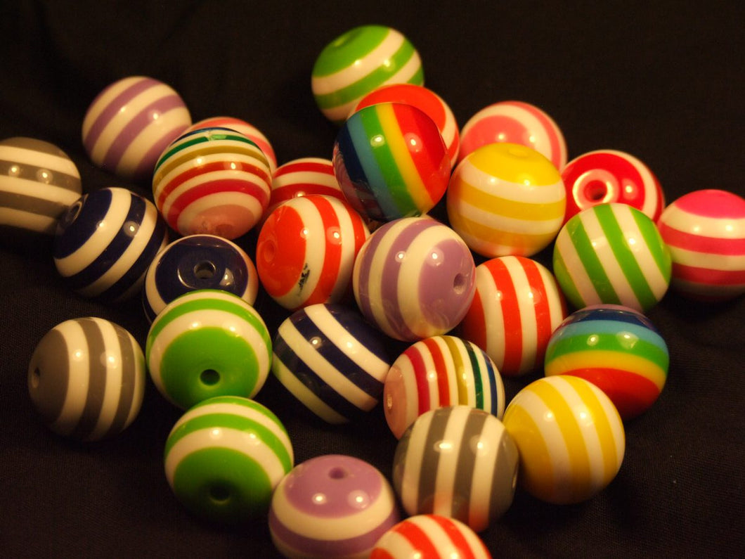 Solid Striped Beads