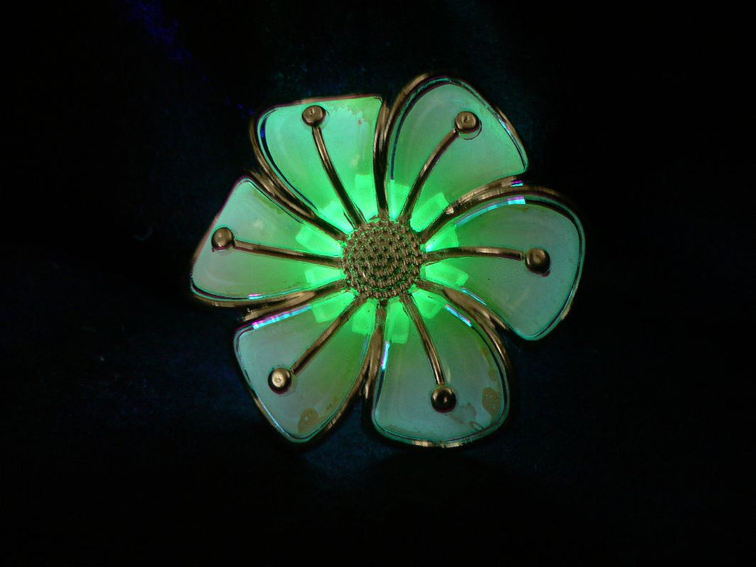 lit up led swirly flower