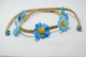 large blue daisy hippie halo