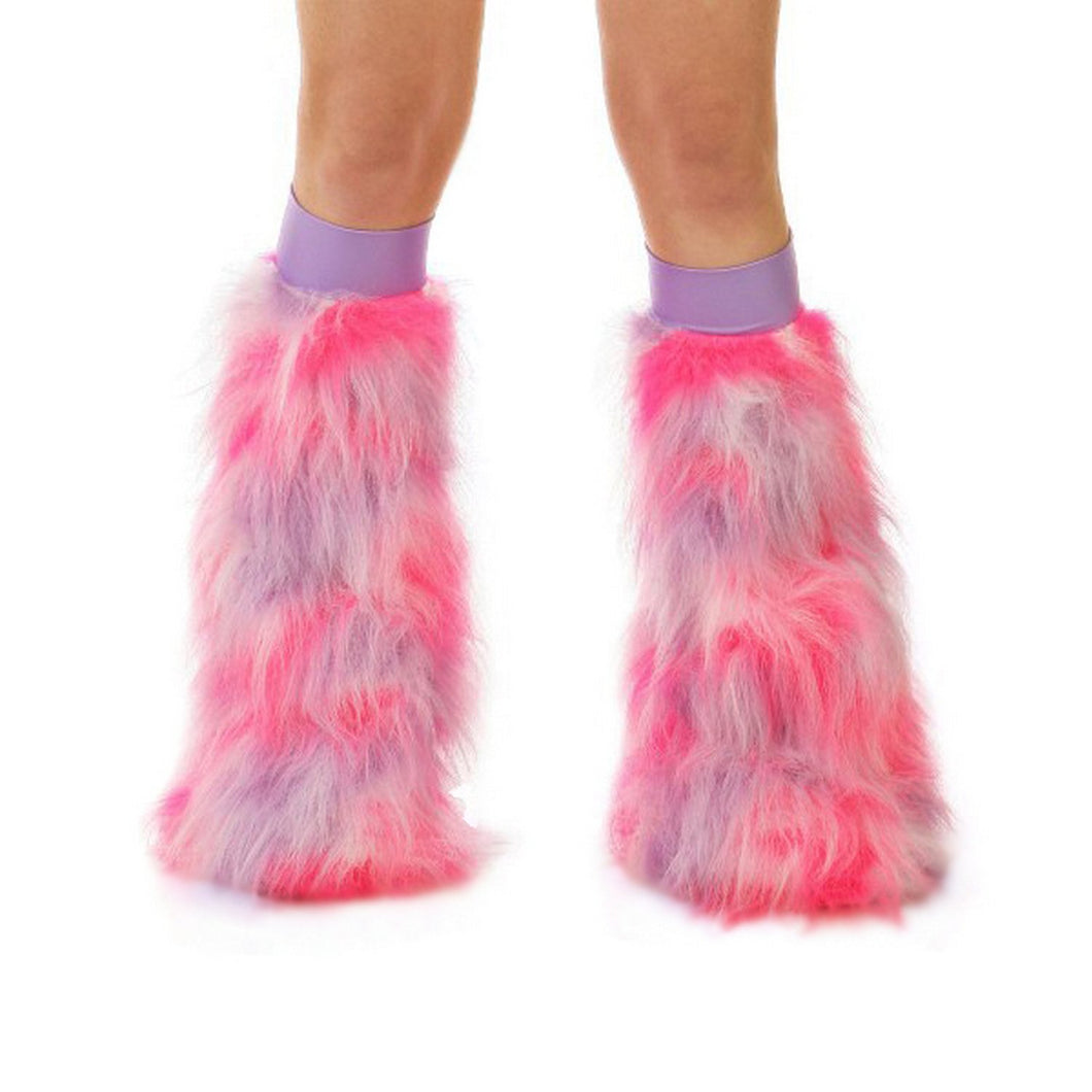 Pink Purple and Lilac Fluffies With Lilac Bands