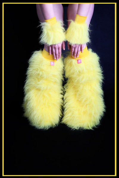 Fluffy Cuff Yellow Set