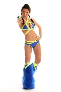 Tribe Blue and Yellow outfit