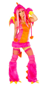 Pink Dragon Rave Costume Front