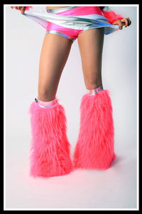 Contrast Pink & Silver Fluffies