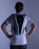 Blue El Wire Hydration Pack