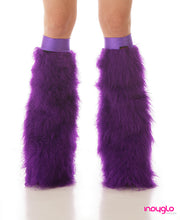 Purple Fuzzy Leg Warmers