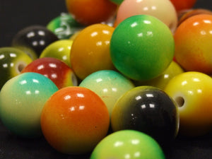 Tie Dye Billiard Beads- assorted