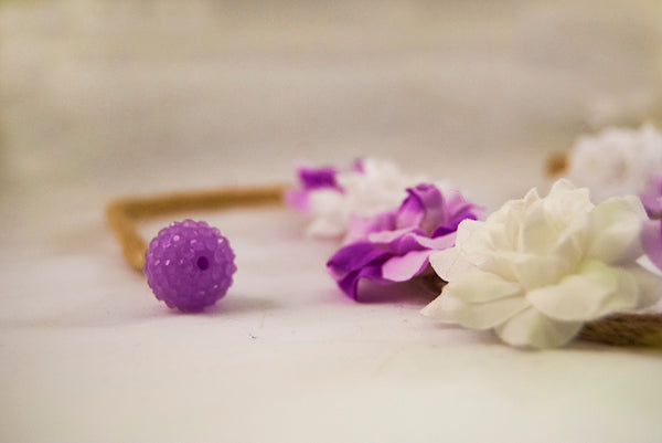 Contrasting Purple Petal and White Flower Headband
