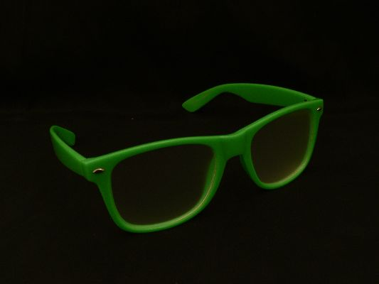 Rainbow Diffraction Vision Glasses Green