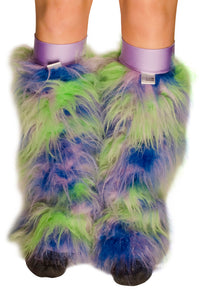 Green Blue and Purple Fluffies With Lilac Kneebands 2
