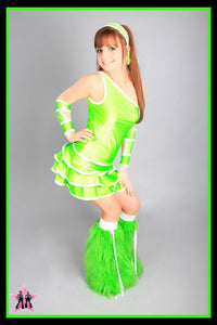 Shimmy Green & White Outfit