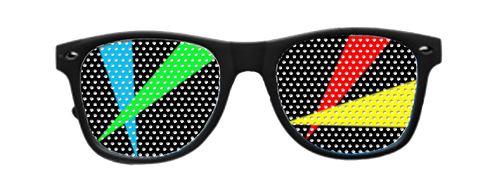 Laser Vinyl Rave Shades with Black Frames