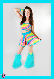 Jive Rainbow & Turqouise Outfit