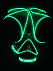 El wire lit gas mask