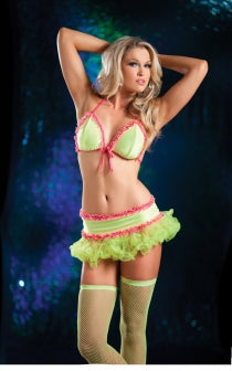 UV Yellow Dance Skirt Set (front)