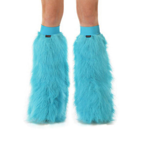 Turquoise Fluffies with Turquoise Knee Bands
