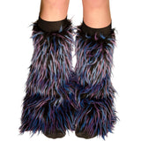 Black Fur with Blue and Purple Spikes