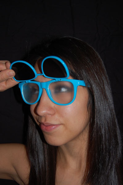 Rainbow Diffraction Vision Sunglasses- BLUE