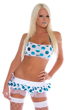 Blue Polka dot rave outfit