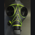El wire unlit gas mask