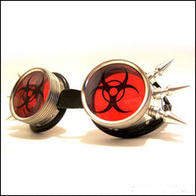 Red BioHazard Rave Goggles