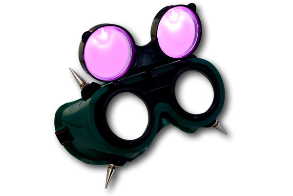 Spiked See Through Cyber Goth Goggles