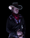 White Light Up Cowboy Costume Hat