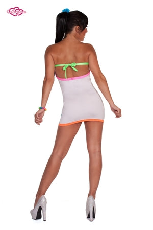 Rio Party Rave Dress White