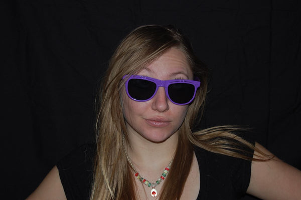 Rainbow Diffraction Vision Sunglasses- PURPLE
