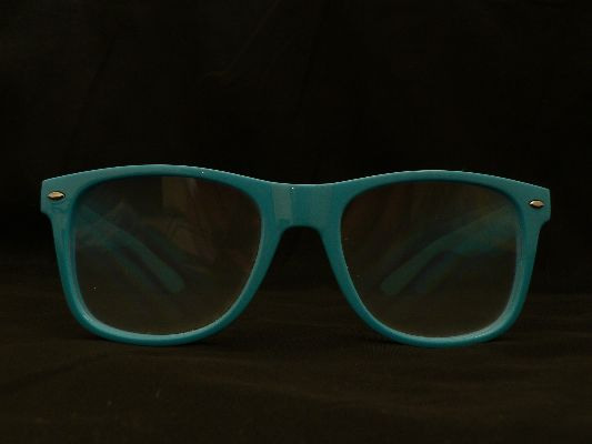 Rainbow Diffraction Vision Glasses Blue