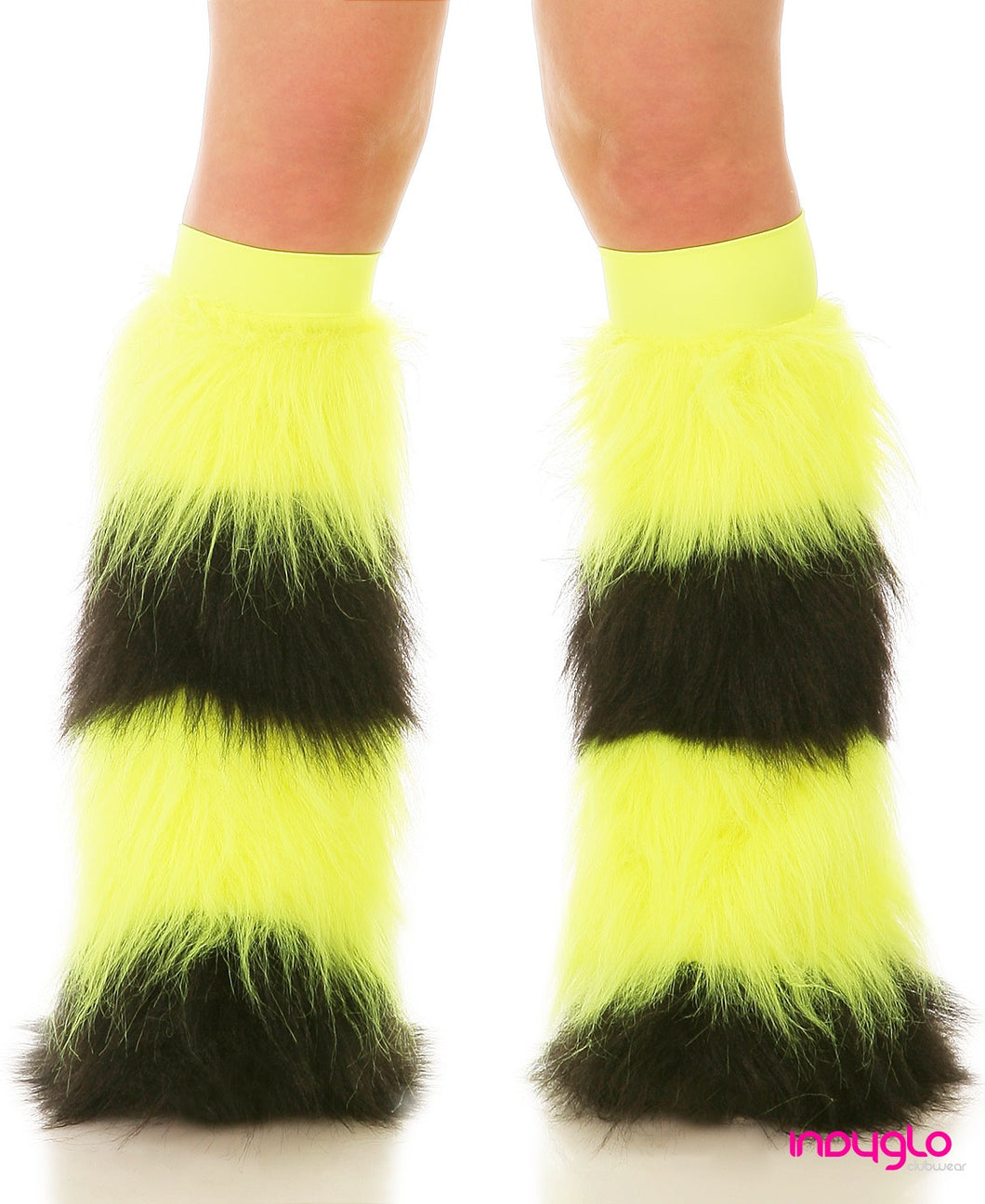 Yellow & Black Quad Fluffies with Yellow Knee Bands