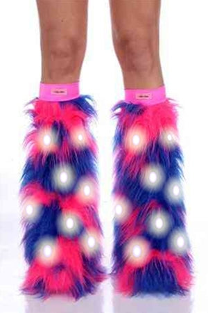 Super Charged Cotton Candy LED Boot Covers