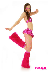 Magenta Mini Skirt Rave Outfit
