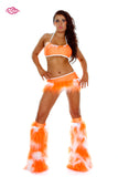 Juicy Rave Outfit -White/Orange Front