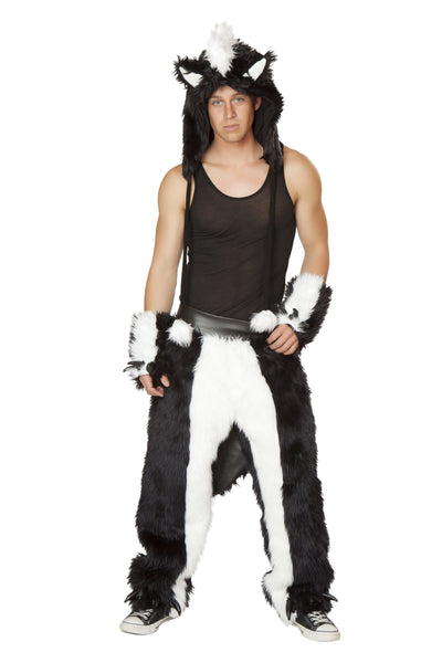 Unisexy Skunk Dancing Chaps Costume Front Male