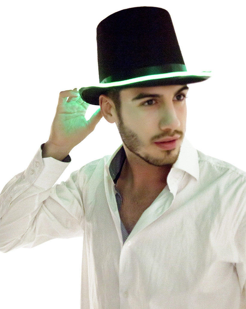 El Wire Light Up Top Hat