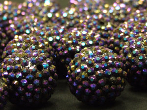 Large Purple Disco Ball Beads