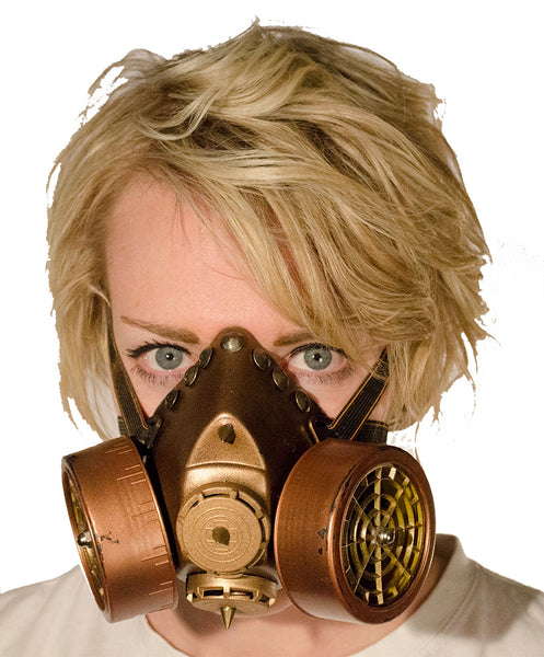 Dual Cartridge Steampunk Gas Mask Rivets 4