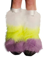 White, Yellow, & Lilac Fluffies