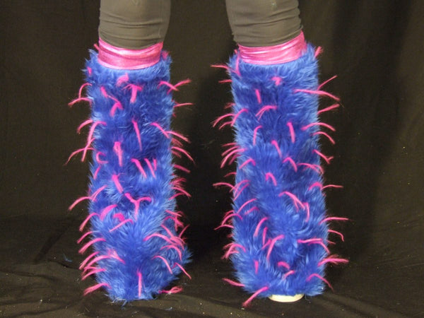 Blue Fur with Pink Spike Fluffies