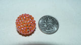 Medium Sized Disco Ball Bead Next to Quarter
