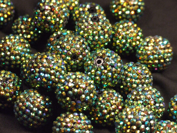 Green Disco Bead