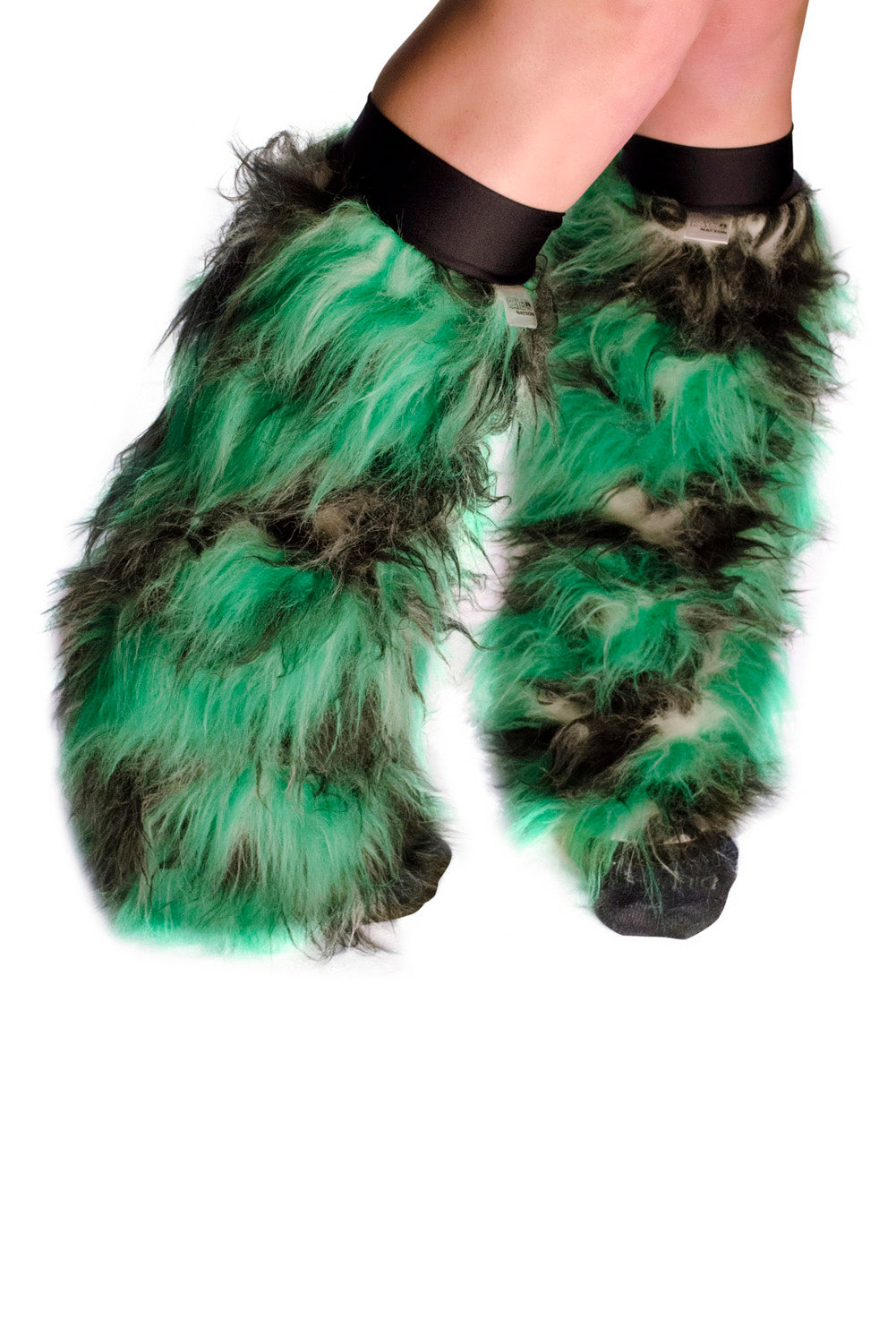 Green and Black Fluffies